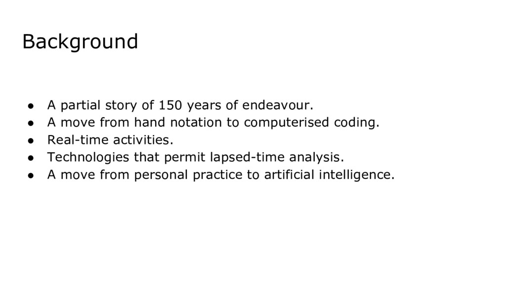 Background ● A partial story of 150 years of en...