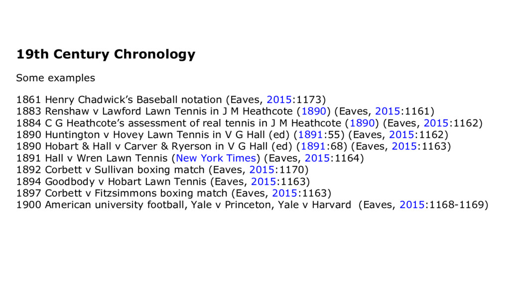 19th Century Chronology Some examples 1861 Henr...