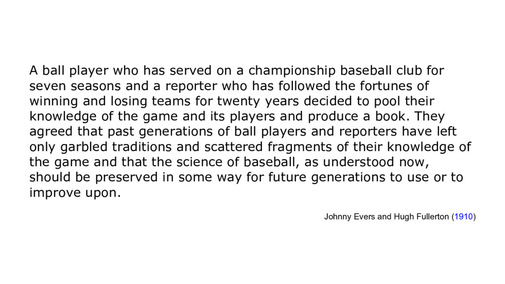 A ball player who has served on a championship ...