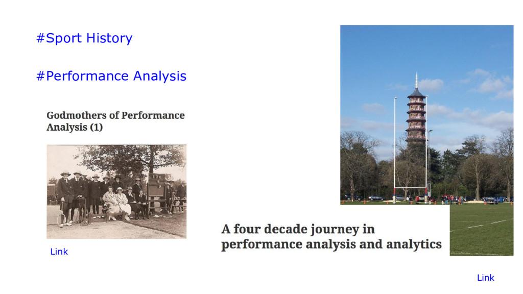 #Sport History #Performance Analysis Link Link