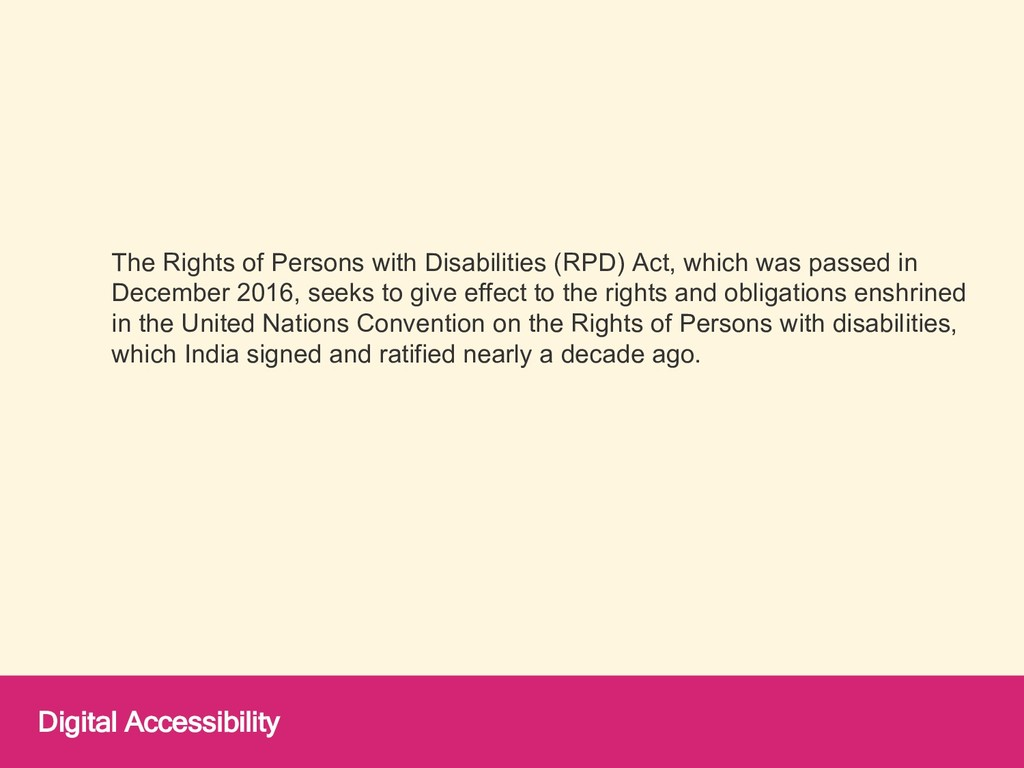 The Rights of Persons with Disabilities (RPD) A...