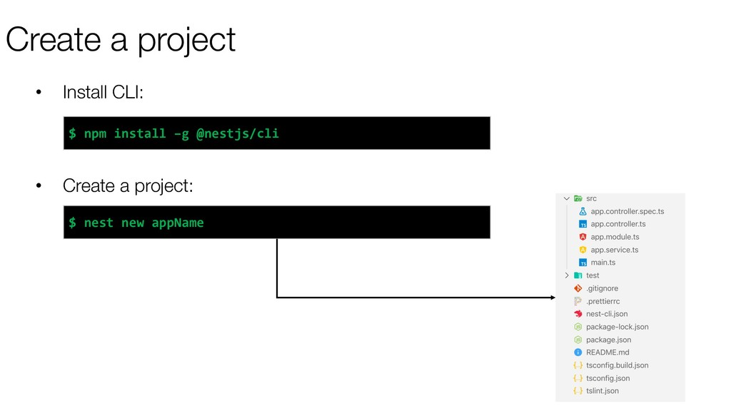 Create a project • Install CLI: • Create a proj...