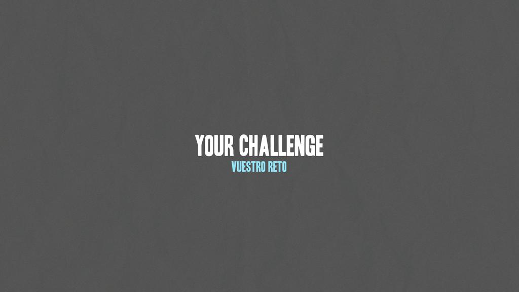 Your Challenge vuestro Reto