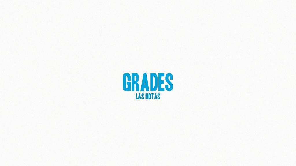 Grades las notas