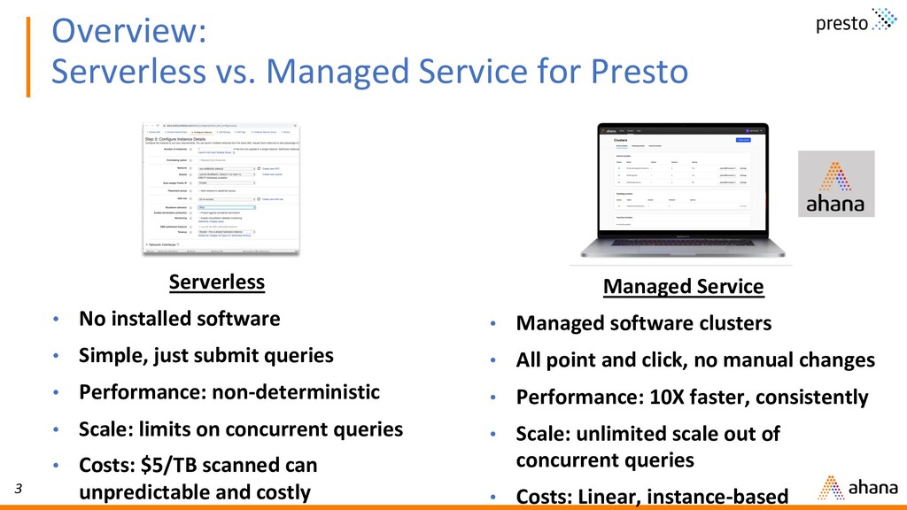 3 Overview: Serverless vs. Managed Service for ...