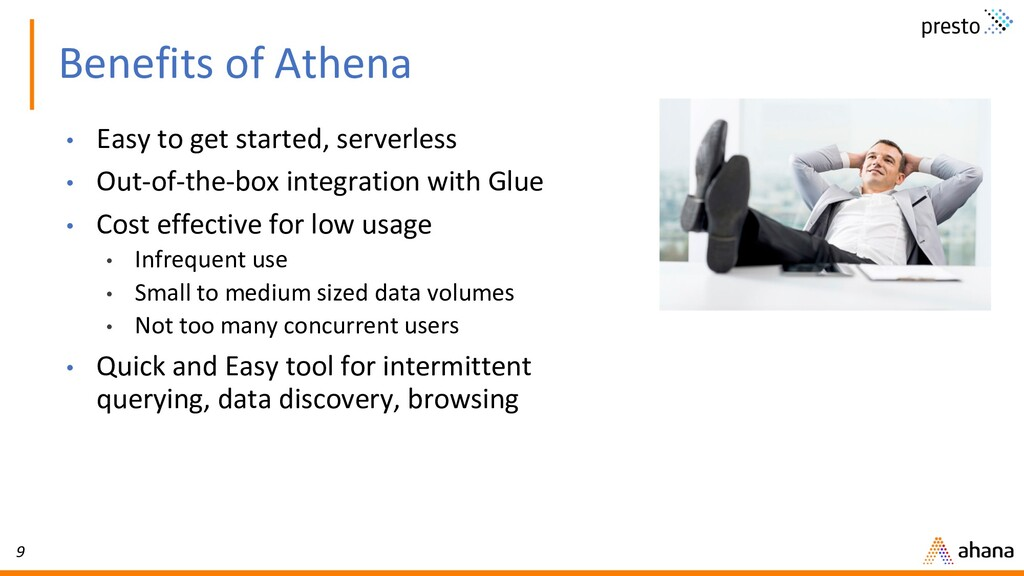 9 Benefits of Athena • Easy to get started, ser...