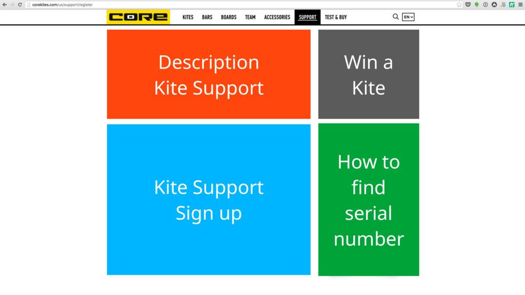 Description Kite Support Win a Kite Kite Suppor...