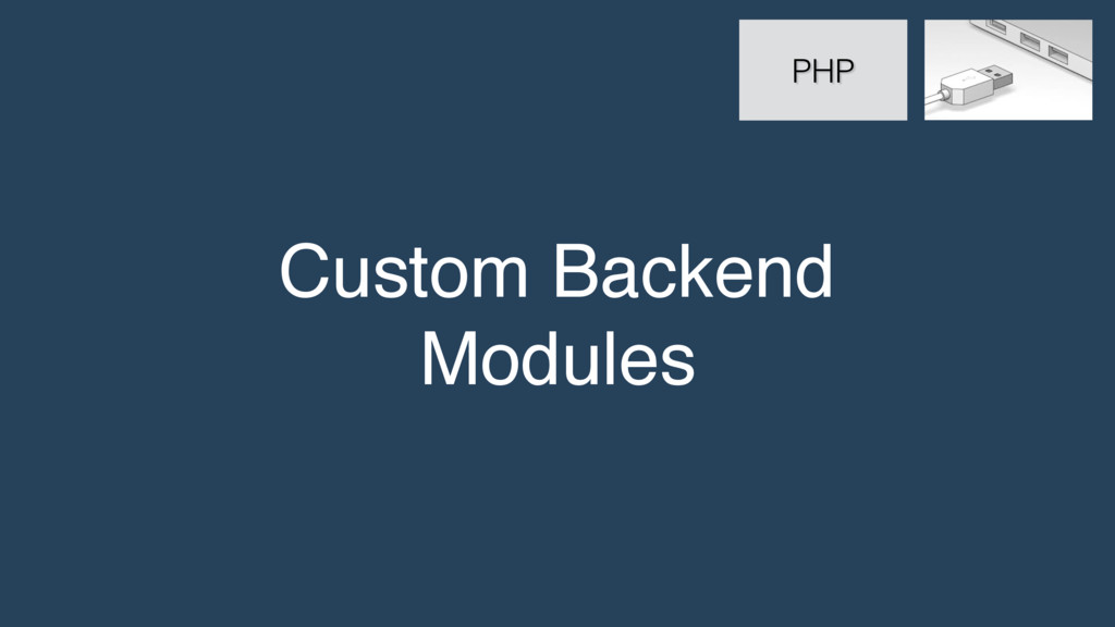 Custom Backend Modules PHP
