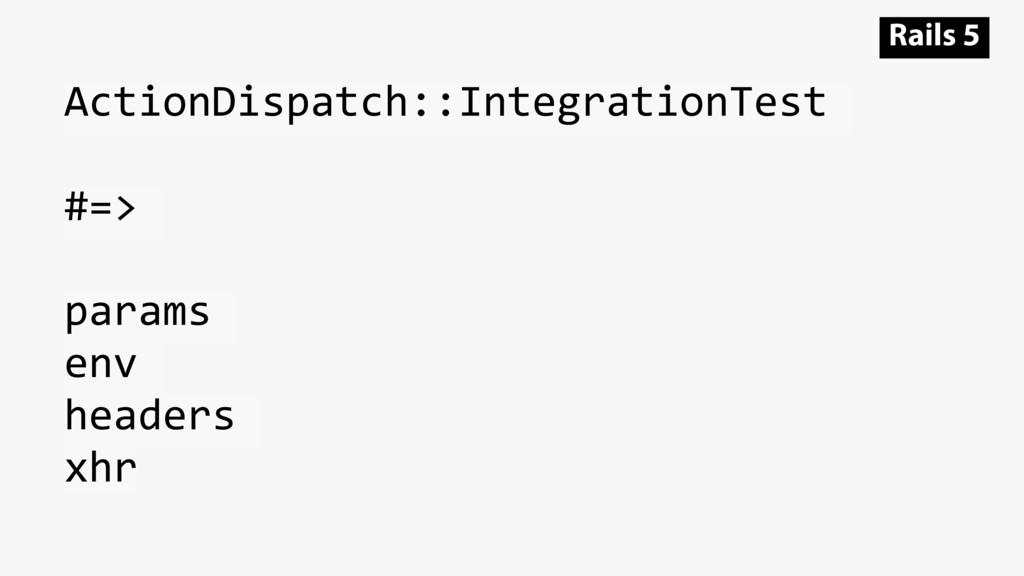 ActionDispatch::IntegrationTest #=> params env ...