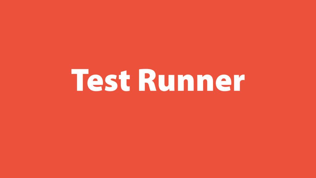 Test Runner