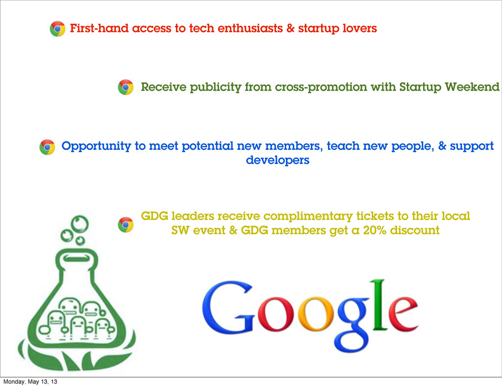 First-hand access to tech enthusiasts & startup...