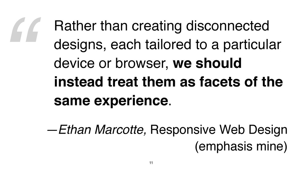 """"""" 11 Rather than creating disconnected designs,..."""