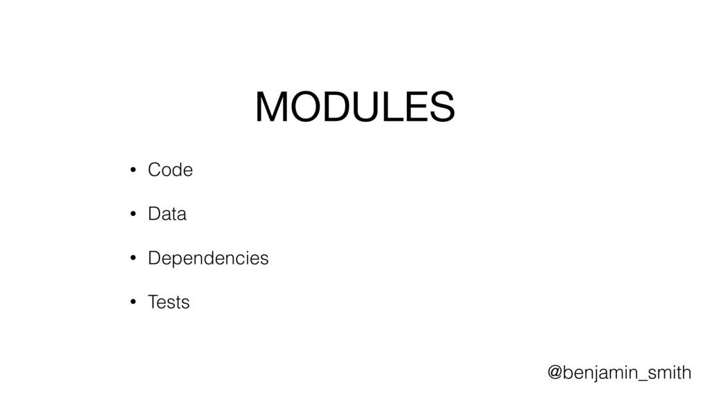 MODULES  • Code • Data • Dependencies • Tests @...