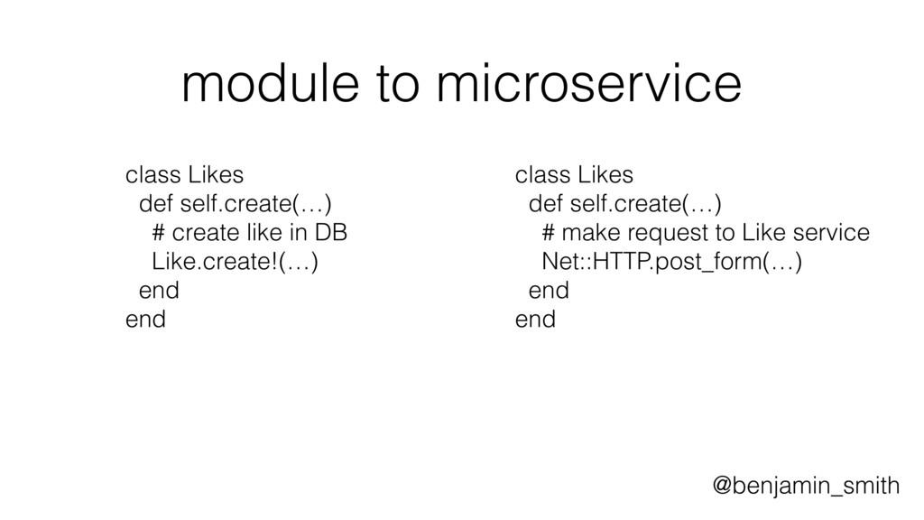 module to microservice class Likes def self.cre...