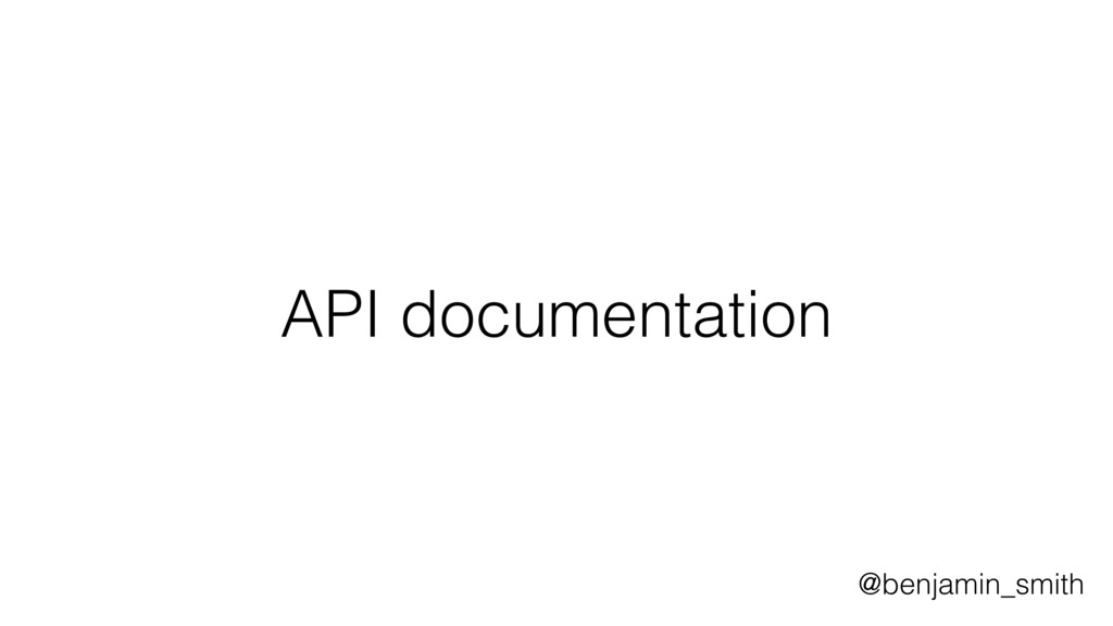 API documentation @benjamin_smith