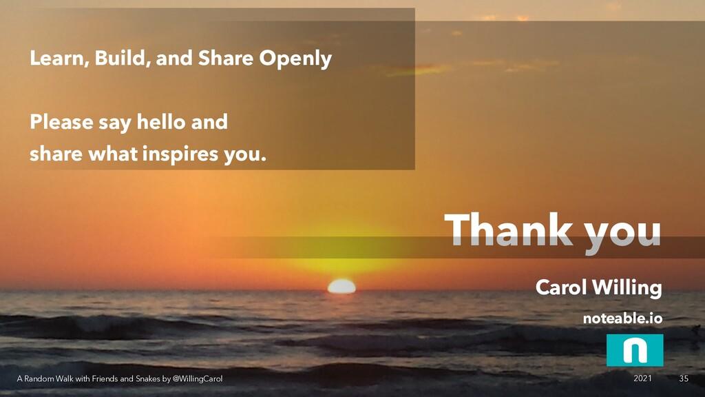 Thank you Carol Willing noteable.io A Random Wa...