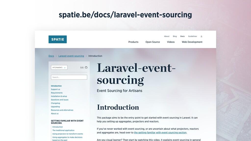 spatie.be/docs/laravel-event-sourcing