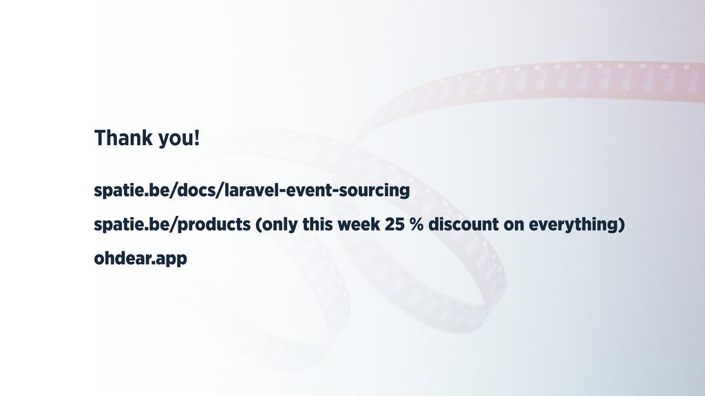 Thank you!   spatie.be/docs/laravel-event-sourc...