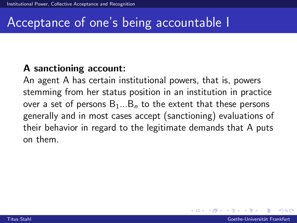 Institutional Power, Collective Acceptance and ...