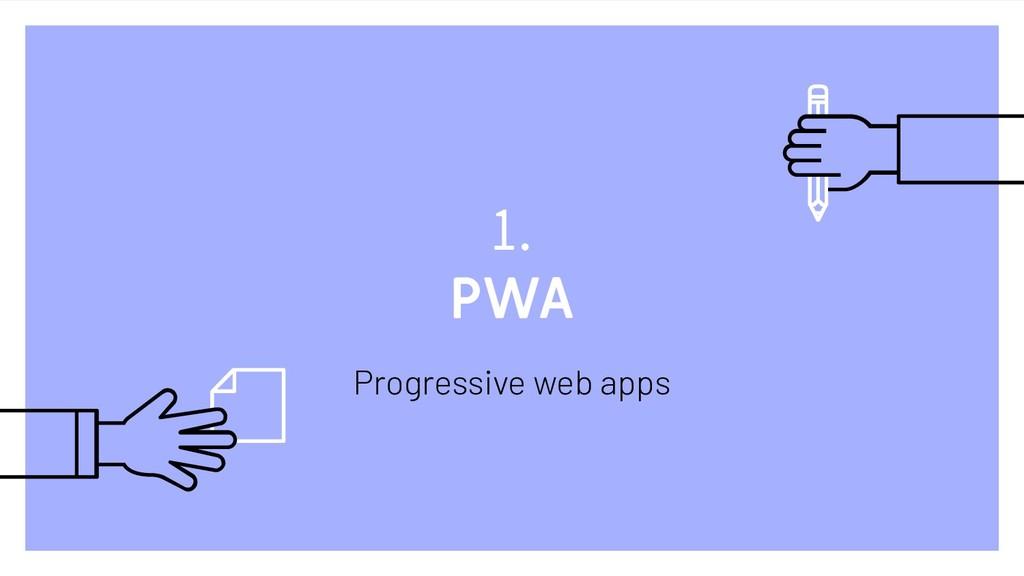 1. PWA Progressive web apps