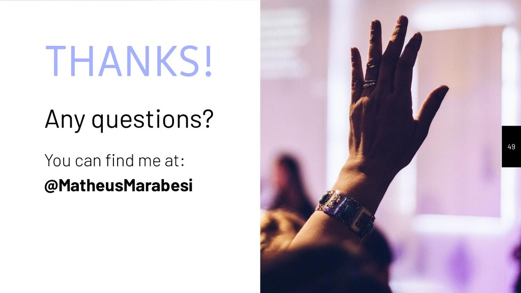 THANKS! Any questions? You can find me at: @Math...