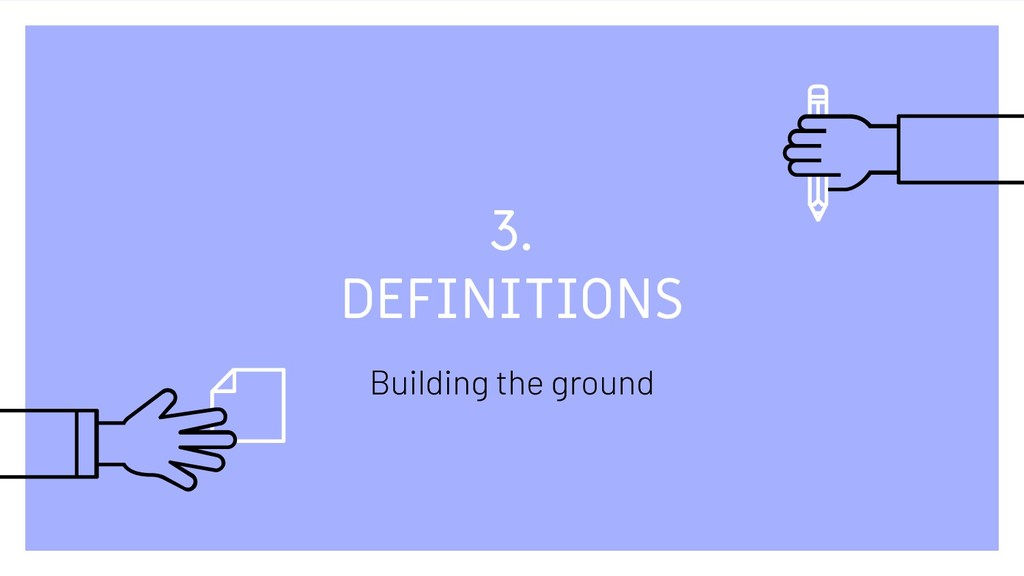 3. DEFINITIONS Building the ground