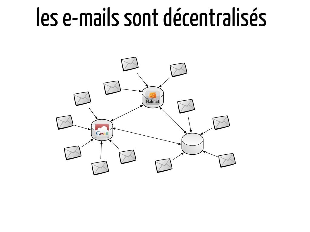 les e-mails sont décentralisés