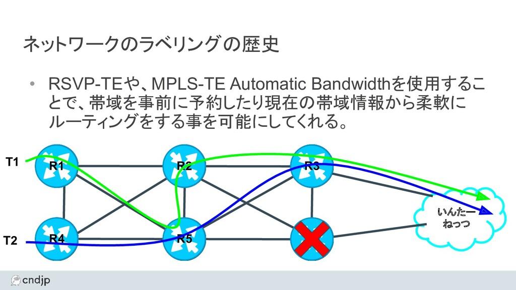 ネットワークのラベリングの歴史 • RSVP-TEや、MPLS-TE Automatic Ba...