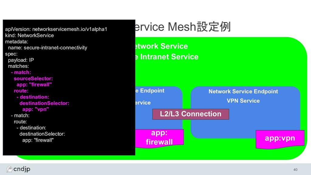 40 Network Service Mesh設定例 Network Service Netw...