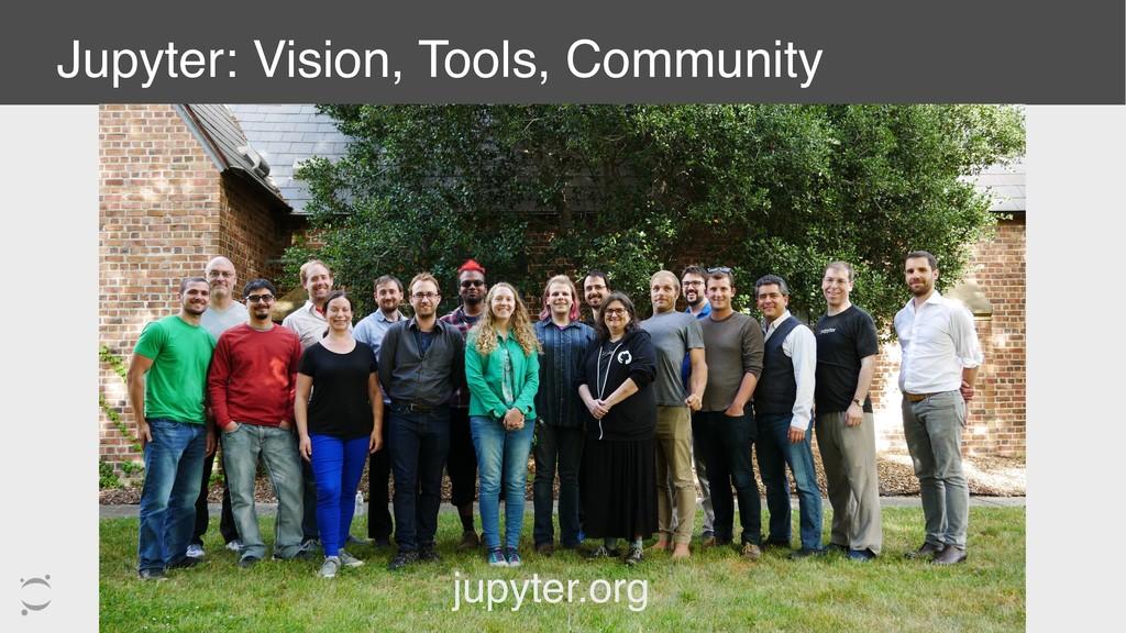 Jupyter: Vision, Tools, Community jupyter.org