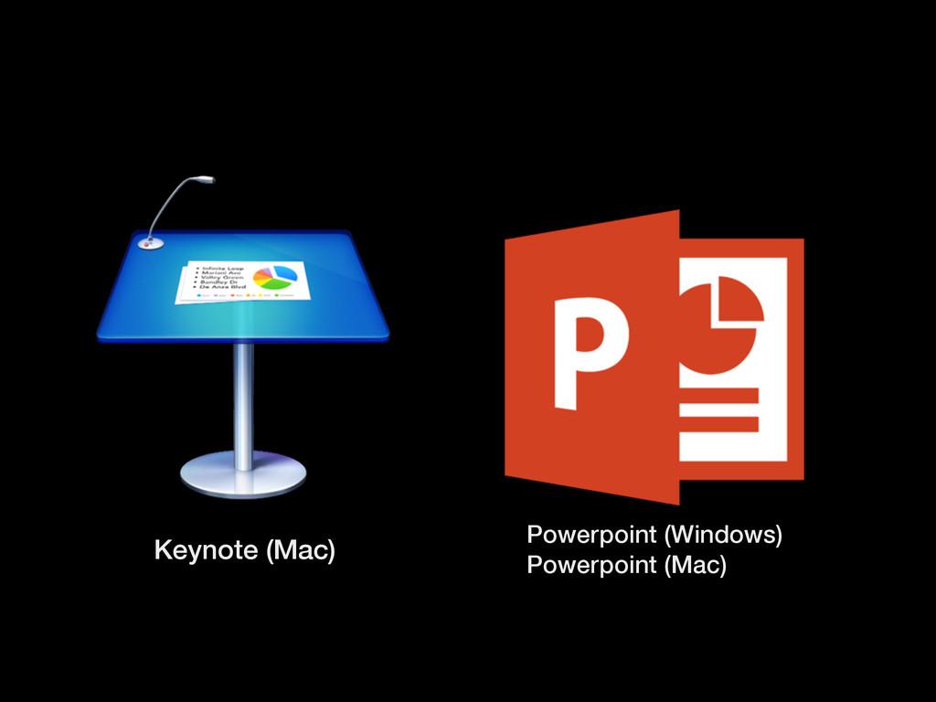 Keynote (Mac) Powerpoint (Windows) Powerpoint (...