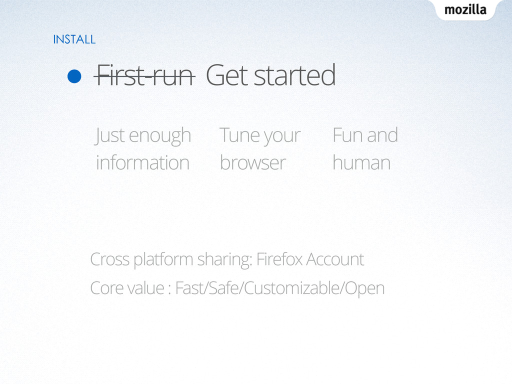 First-run Get started INSTALL Cross platform sh...