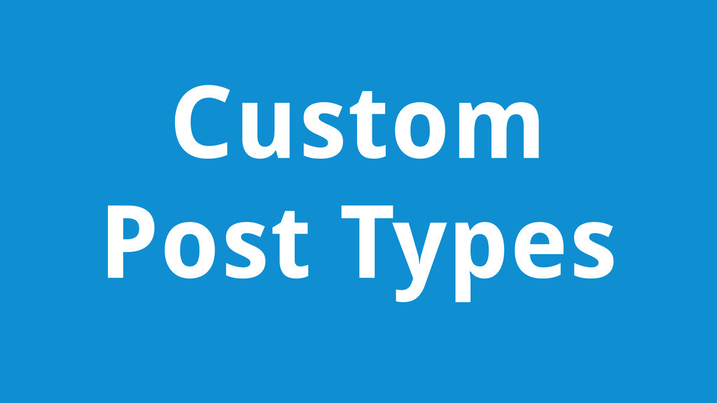 Custom Post Types