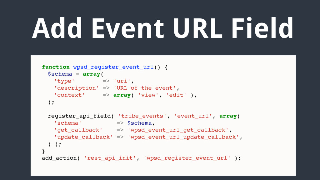 Add Event URL Field function wpsd_register_even...