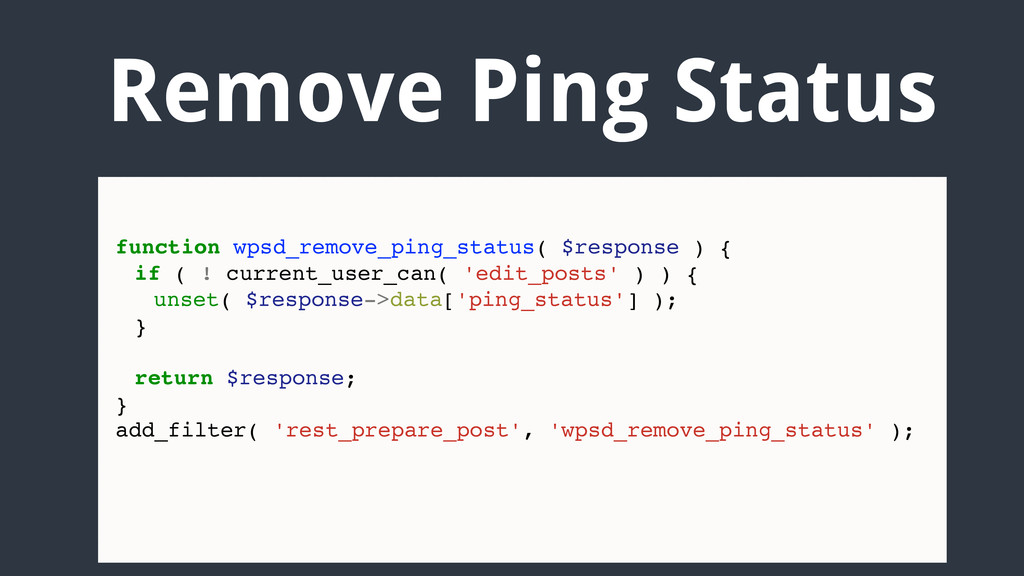 Remove Ping Status function wpsd_remove_ping_st...