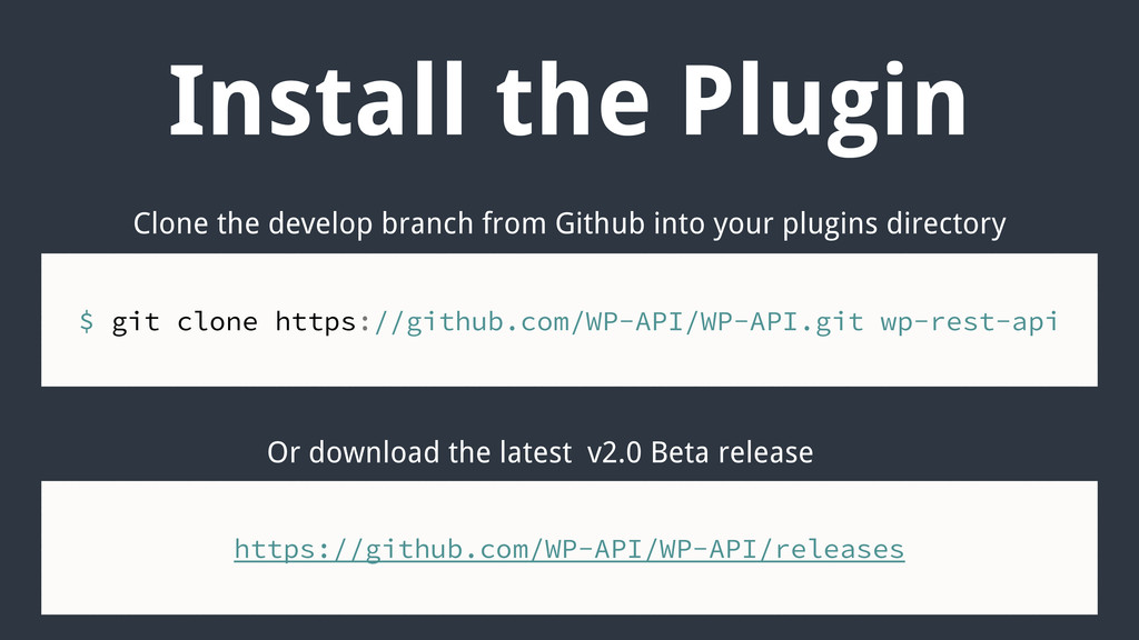 Install the Plugin $ git clone https://github.c...