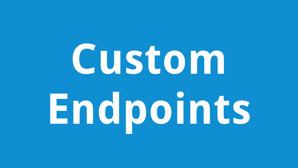 Custom Endpoints