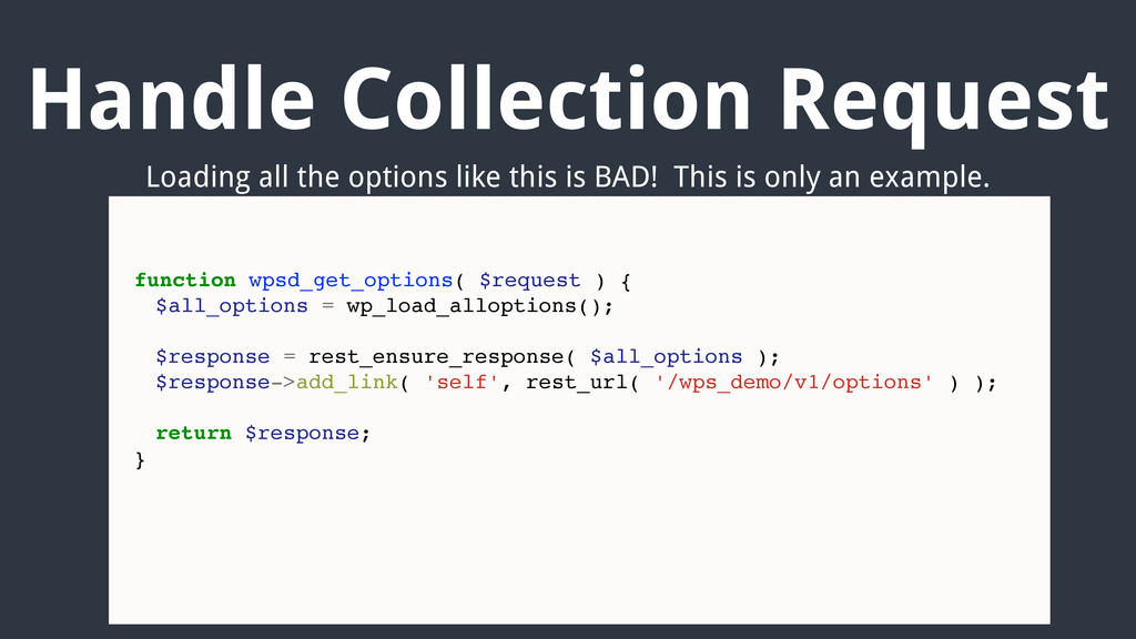 Handle Collection Request function wpsd_get_opt...