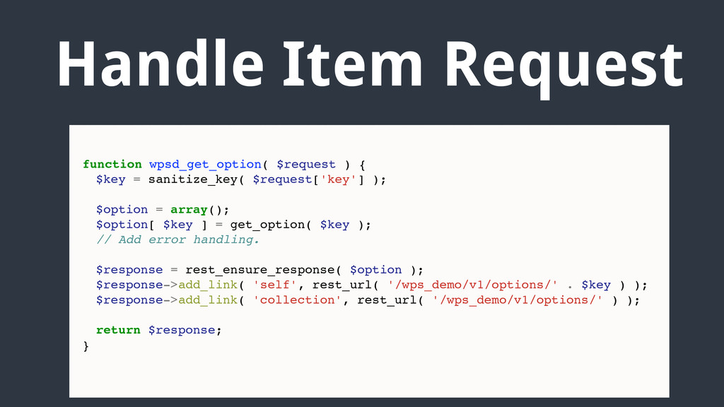 Handle Item Request function wpsd_get_option( $...