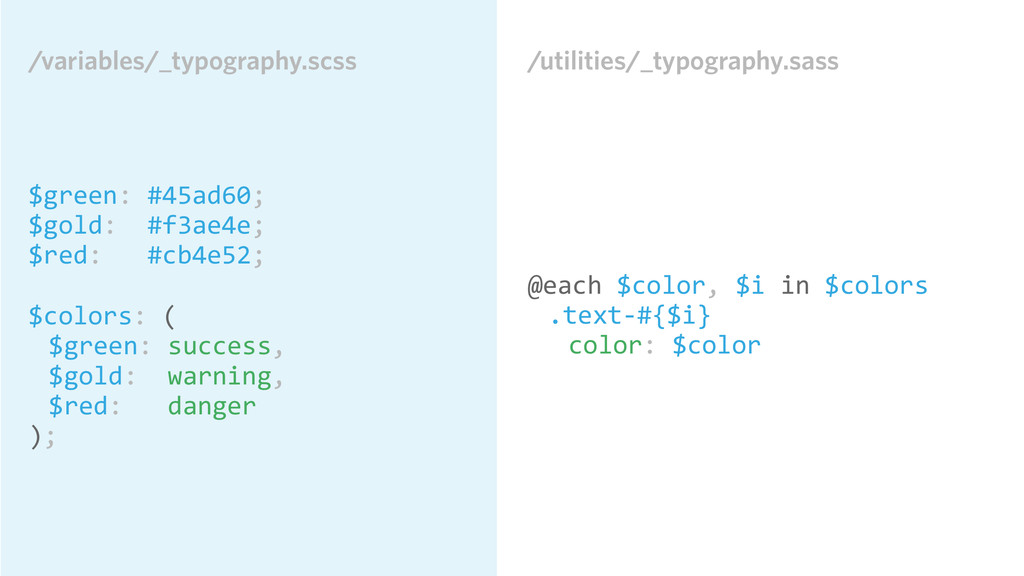 /utilities/_typography.sass @each $color, ...