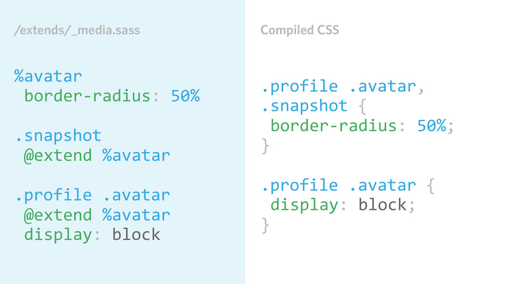 Compiled CSS .profile .avatar,  .snapshot...