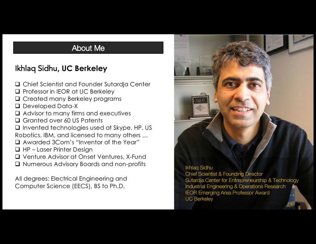 Ikhlaq Sidhu Chief Scientist & Founding Directo...