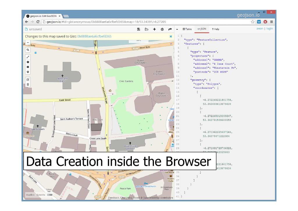Data Creation inside the Browser geojson.io