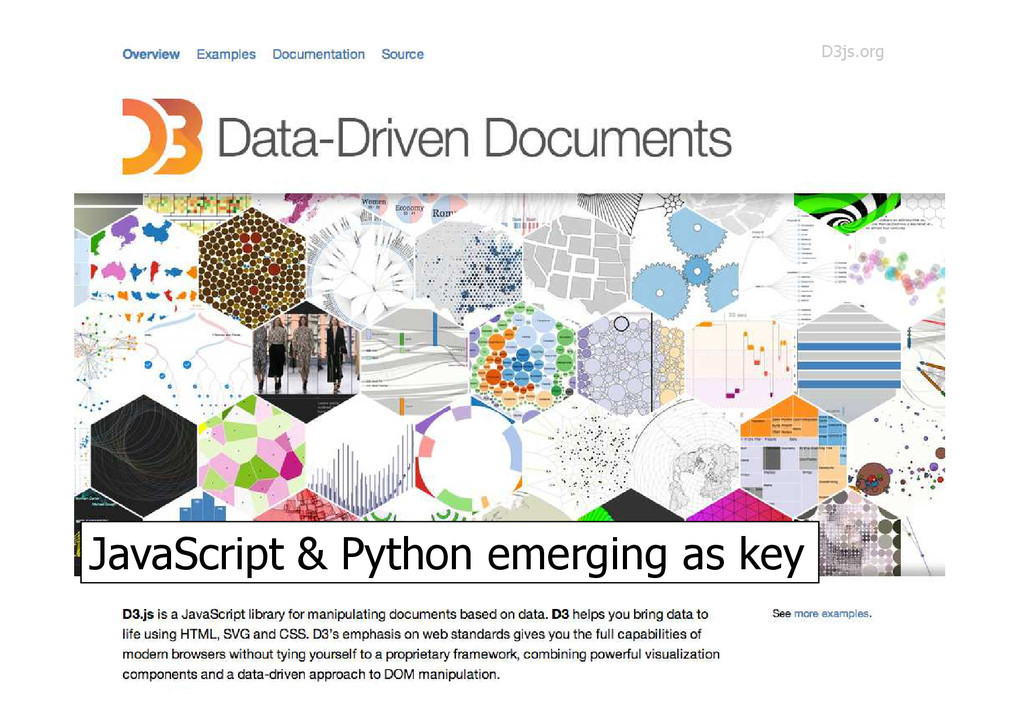 JavaScript & Python emerging as key D3js.org