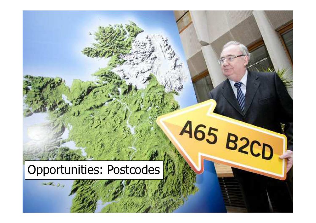 Opportunities: Postcodes