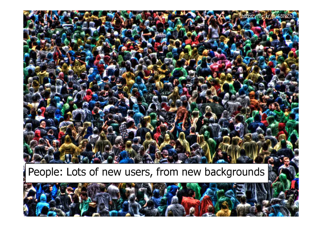 https:/flic.kr/p/68NZhL People: Lots of new use...