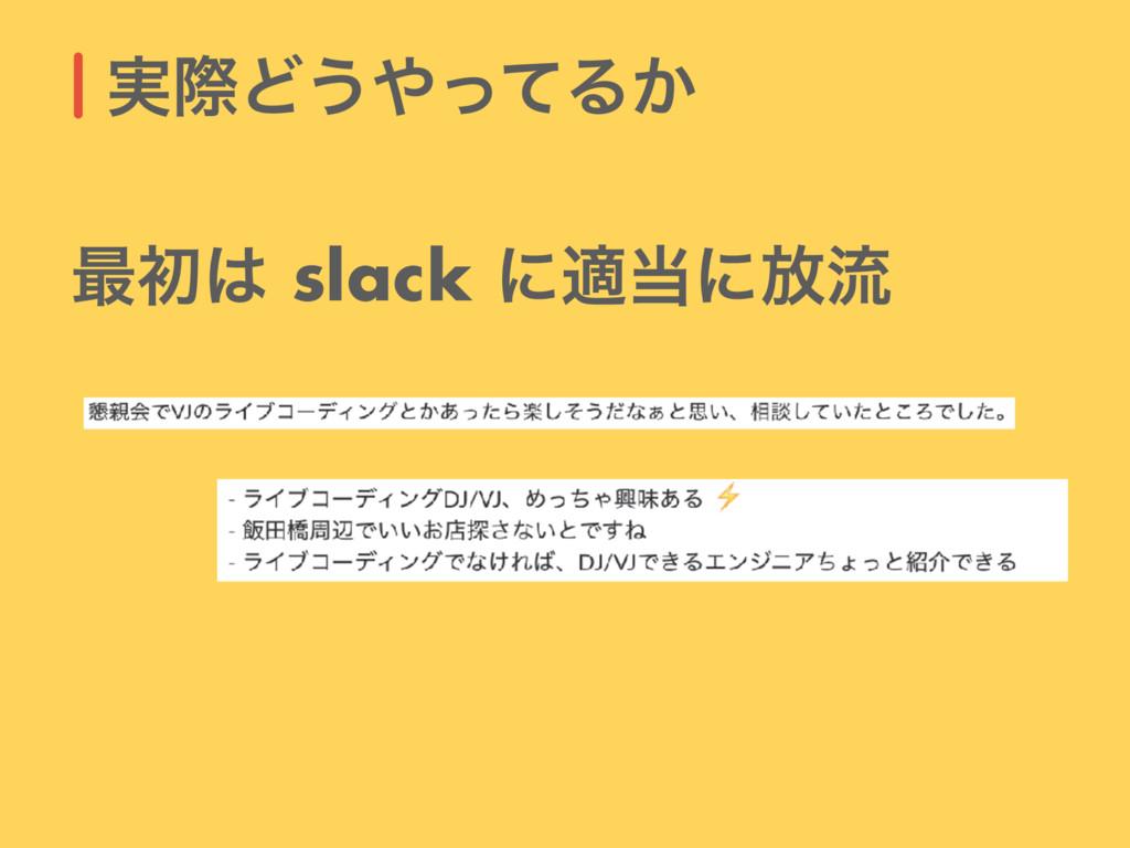 ࣮ࡍͲ͏ͬͯΔ͔ ࠷ॳ slack ʹదʹ์ྲྀ