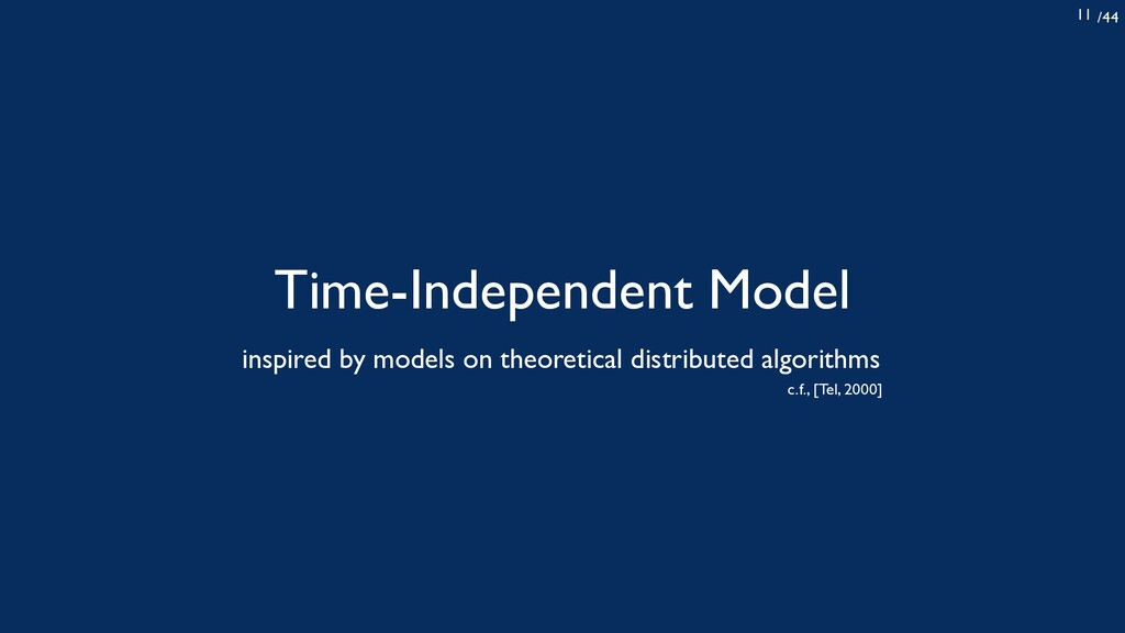 /44 11 Time-Independent Model inspired by model...