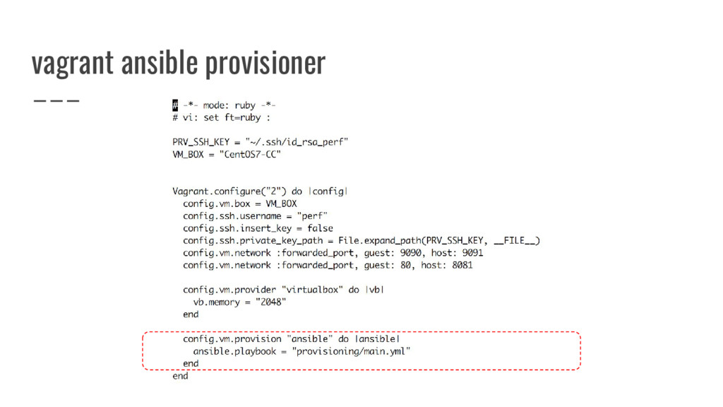 vagrant ansible provisioner