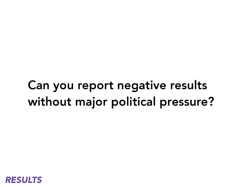 Can you report negative results without major p...